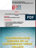 Vulnerabilidad Sismica en La Universidad Cesar Vallejo