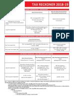 Tax Reckoner 2018-19