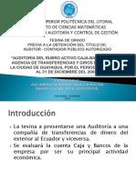 AUDITORÍA FINANCIERA A  LOS RUBROS CAJA Y BANCOS.pptx