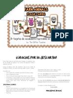 Farm Animals Flash Cards