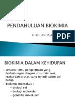 Kuliah Pengantar Biokimia - Dr. Fitri Handayani, M.kes.