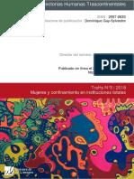 """Revista Trayectorias Humanas Transcontinentales. Núm. 3. """"Mujeres y confinamiento en instituciones totales"""""""