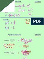 Core1 Algebraic Fractions 240910