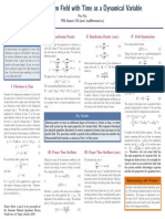 Quantum Field with Time as a Dynamical Variable Poster