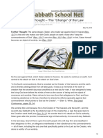 Ssnet.org-Friday Further Thought the Change of the Law