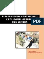 Topografia i Cartaboneo Alineamiento Poligonal Con Wincha