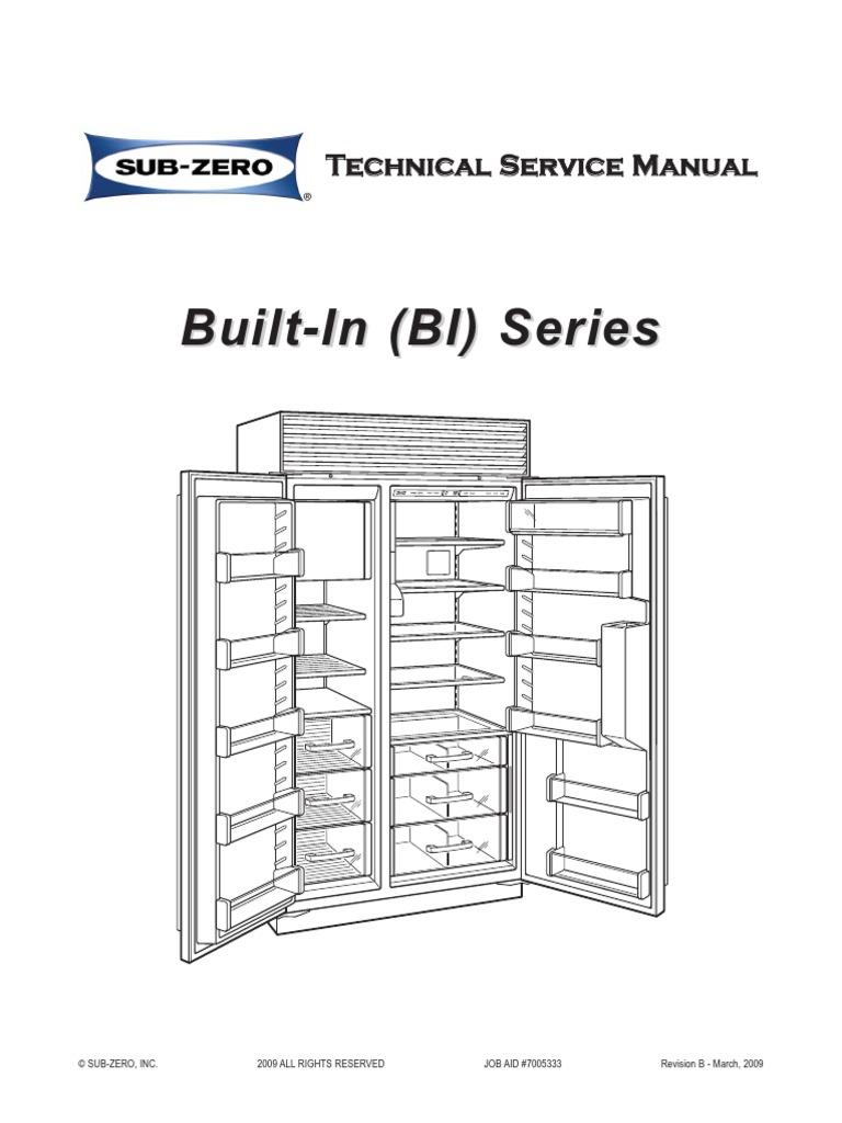 Sub Zero Bi 30u Wiring Diagram Drawing Sketch Diagrams On Service Manual Refrigerator Door