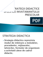 Strategii Didactice Specifice Invatamantului Prescolar