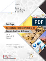 Two days specialized training workshop on Islamic Banking & Finance in Canada