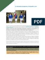 La RME y la política educativa progresiva, incluyente y con equidad.