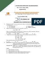 D 1715 Paper III Management