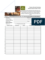Catering Menu Order Form