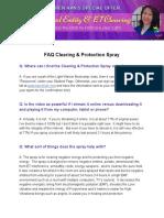 Bonus Updated FAQ Clearing Spray
