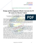 Design and Development of Buck Converter for 9V DC Motor for Electric Vehicle