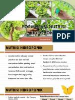 Formulasi Nutrisi Hidroponik
