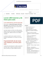 Luces LED Traseras y de Freno Para Auto - Electrónica Unicrom