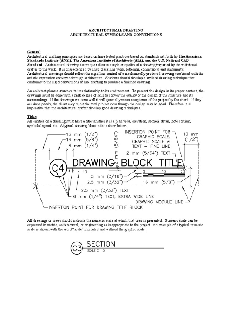 Architectural Symbol And Conventions Aia Technical Drawing Drawing