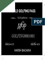 World Golfing Pass