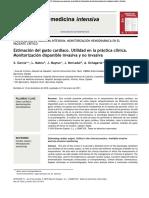 Estimación Del Gasto Cardíaco. Utilidad en La Práctica Clínica.