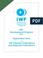 IWF-DP Application-Form DP-2017 MF RF