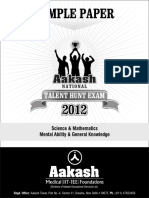Anthe Senior Sample Paper 2012