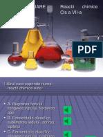 evaluare reactii chimice