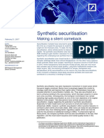 Synthetic Securitisation- Making a Silent Comeback