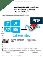 Créer Une Clé USB Multiboot de Plusieurs Systèmes d'Exploitations