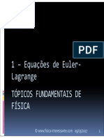 Tffism 1 - Equacoes de Euler-lagrange