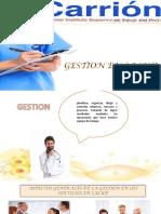 Dipositiva de Gestion en Salud Itala
