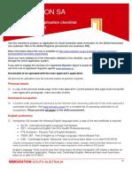 GSM Skilled Nomination Document Checklist