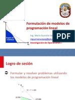 Sesión 02 - Formulación de Modelos de PL