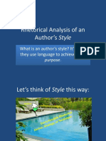 Analyzing an Author's Style