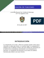 Diapositiva de composición de funciones