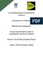 Ensayo Ciencia en México