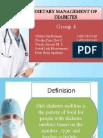 Dietary Management of Diabetes Kelompok 4