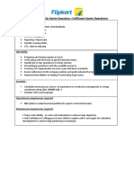Job Description for Sr.executive_Fulfilment Center Operation