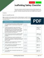 Scaffolding Safety Checklist PDF En