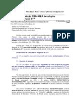 Reiterando Petição CIDH-OEA devolução Mandato Injunção STF