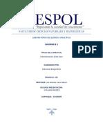 Informe # 2 Laboratorio Química Analítica