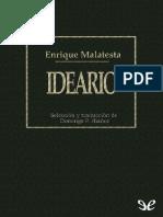 Malatesta, Errico. - Ideario [2013]