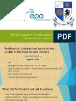 Oli Gleeson Profitwatchs Food Waste Project Forum on Food Waste 2017
