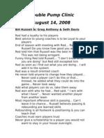 2009 Coaching Clinic Notes