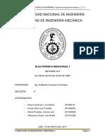 Informe Filtros CON OPAMP