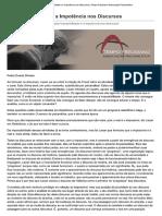 A Impossibilidade e a Impotência Nos Discursos - Pedro Silveira
