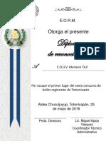 Diplomas de Reconocimientos 2018