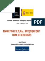 Manuel Cuadrado Marketing Cultural