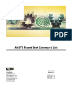 ANSYS Fluent Text Command List