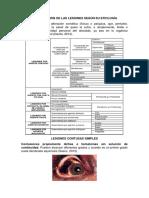 Clasificación de Las Lesiones Según Su Etiología