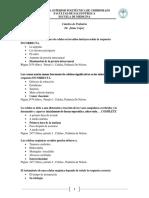 Cuestionario de Pediatria